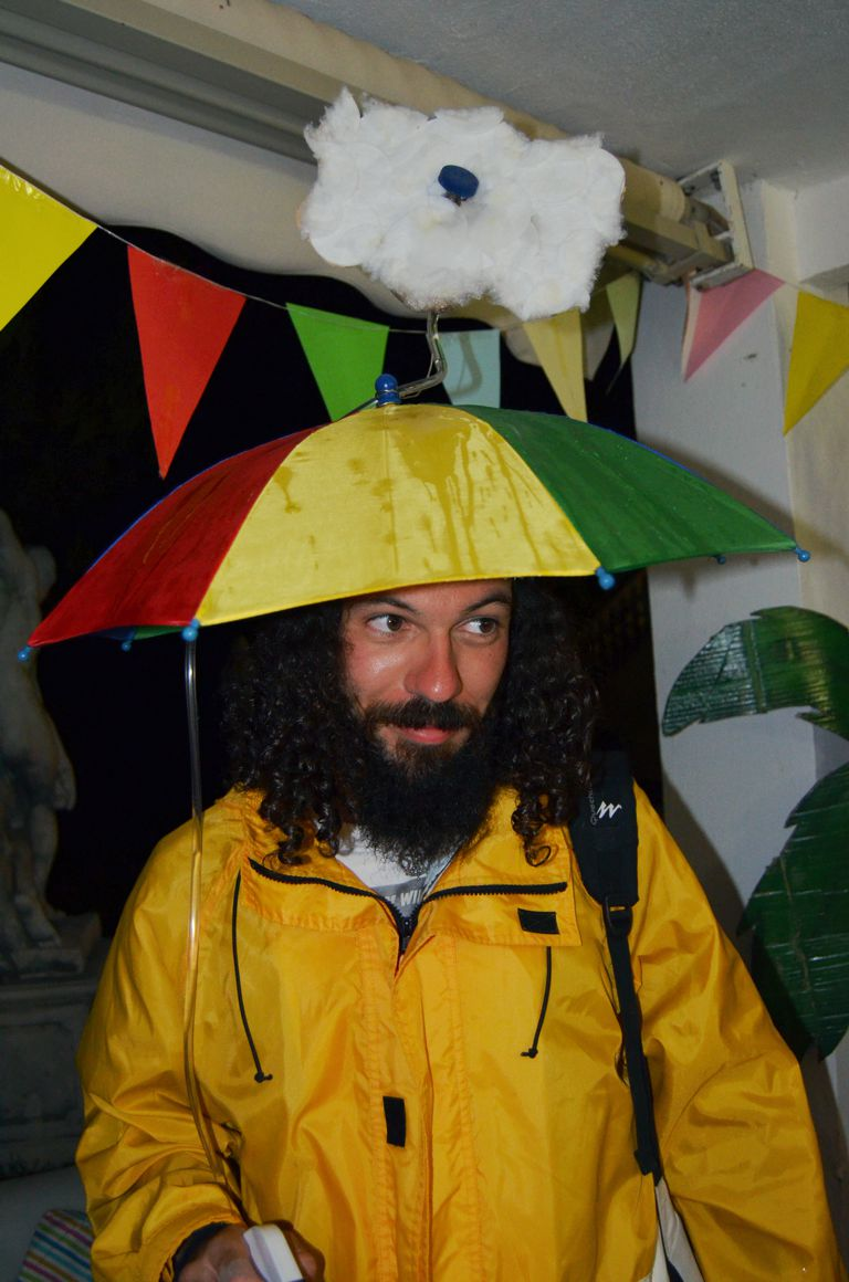 Picture of Weatherman Costume With Real Rain