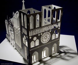 The Notre Dame Cathedral Pop-up Card Kirigami Origamic Architecture