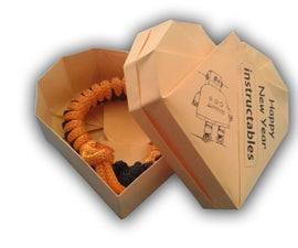 Custom origami heart gift box