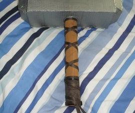 Cardboard Props: How to make a Viking hammer / Thors hammer- Mjolnir