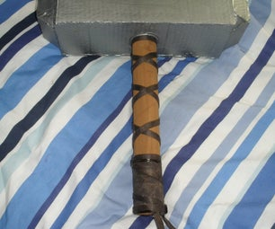 Cardboard Props: How to Make a Viking Hammer / Thors Hammer- Mjolnir