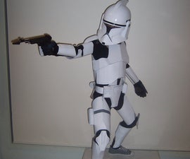 How to Make a Child's Clone Trooper Costume from Cardboard