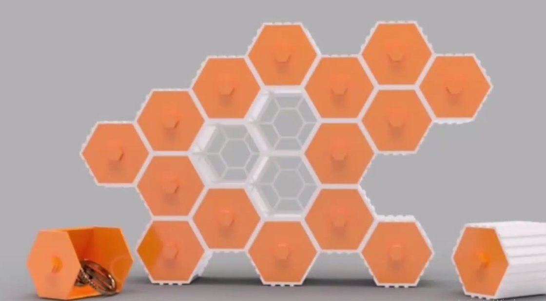 Picture of Modeling a Printable Stackable Hexagon Model in SelfCAD