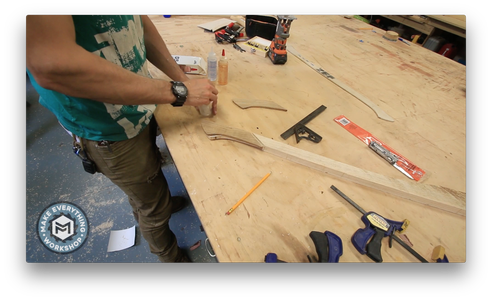 Glueing the Scales to the Handle.