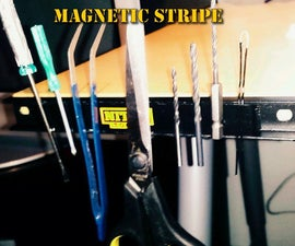 Magnetic Stripe Mounted to the Desk