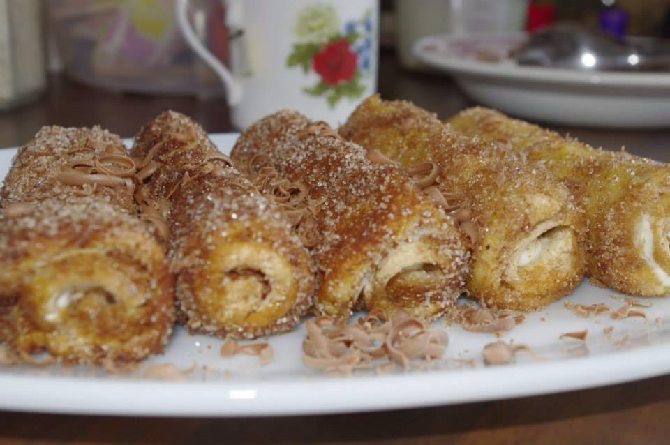 Picture of Philadelphia ( Soft Cheese) and Chocolate Rolls