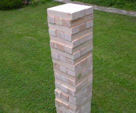 "Giant ""wooden block stacking game"" tower"