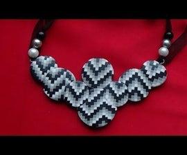 Necklace Bargello. Polymer Clay Tutorial