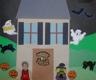 Halloween Poster Card With Pins