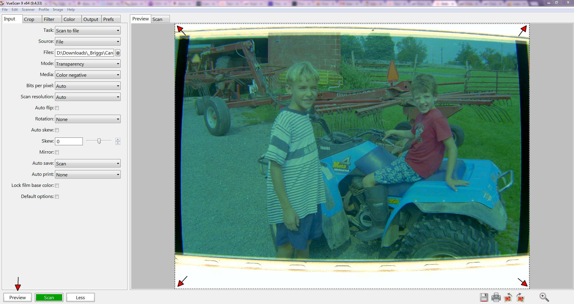 Picture of Preview Your Digital Negative & Adjust Cropping & Save