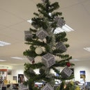 Ueber-Geek Christmas Tree with QR Code decorations
