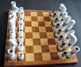 Chess Pieces From PVC Pipe & Fittings