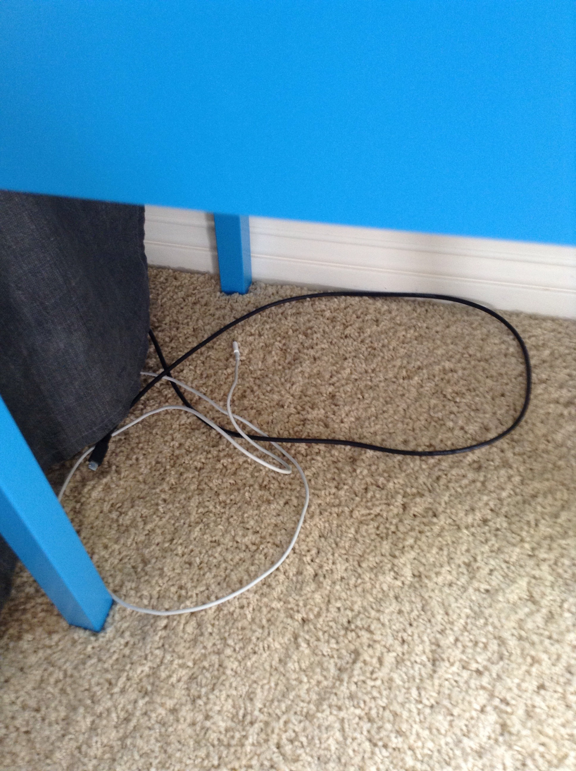 Picture of IKEA Hack- Magnetic Cable Holder