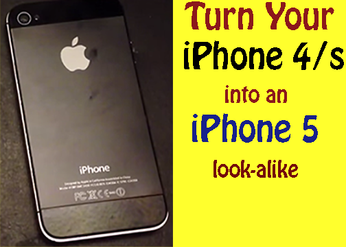 Picture of Evolution: Turn a IPhone 4/s to a 5 Look-alike!