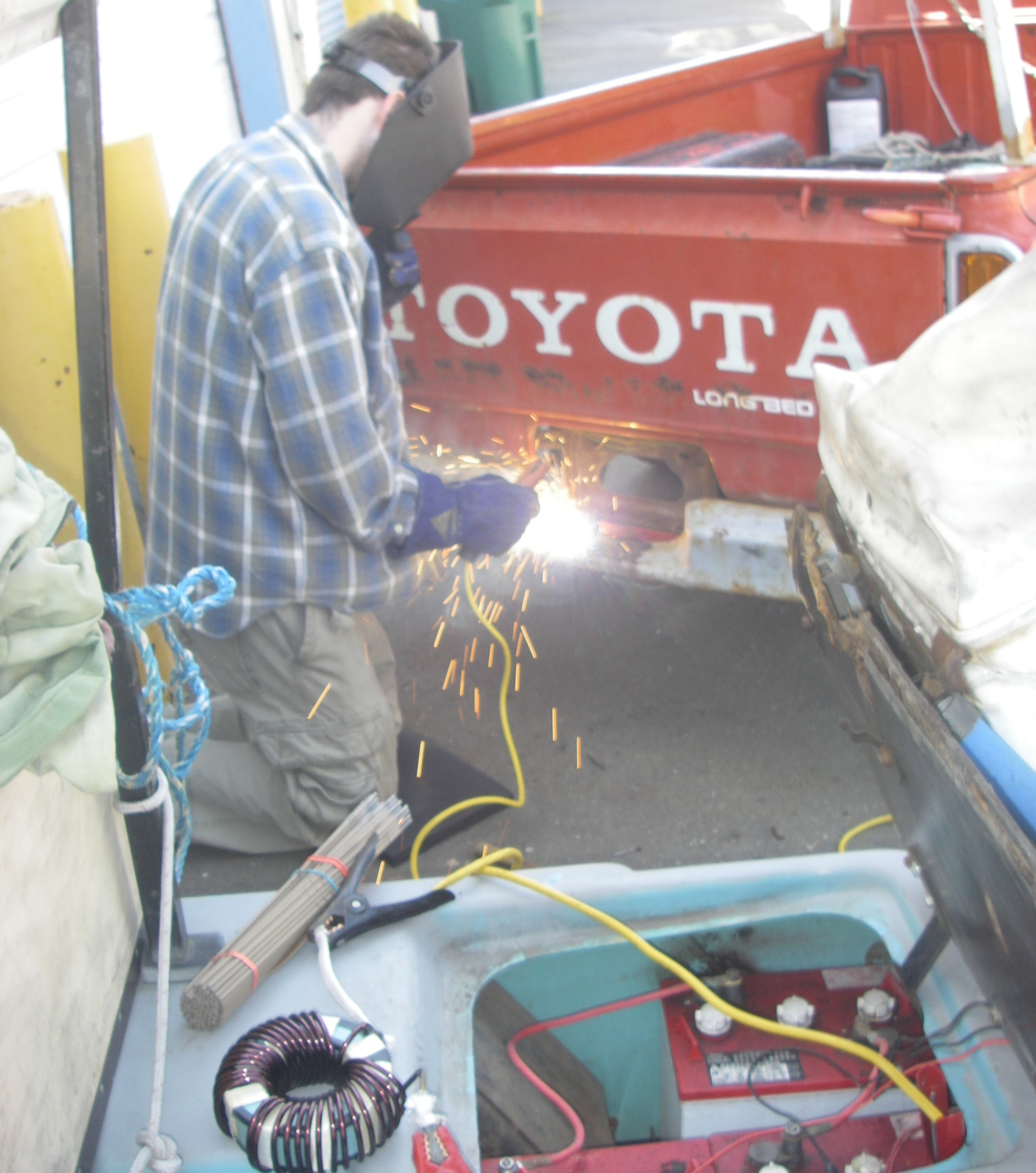 Picture of Cutting Steel With a Stick Welder