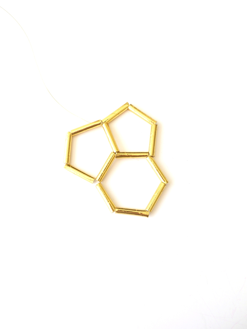 Picture of Making a Row of Pentagons - Part 3
