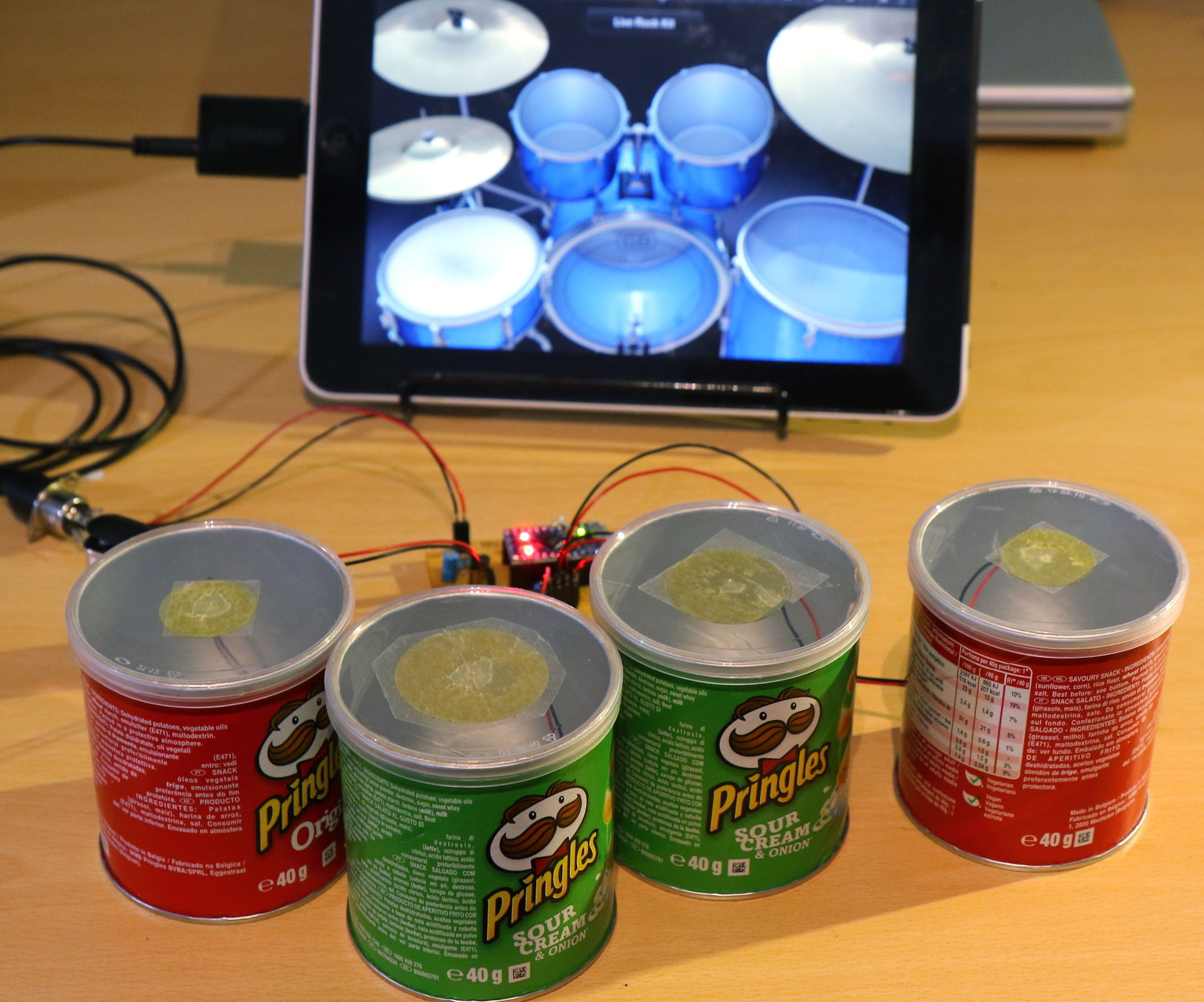 Pringle Can MIDI Drums: 9 Steps (with Pictures)