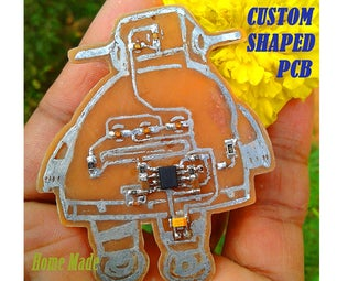Custom Shaped PCB (Instructable Robot)