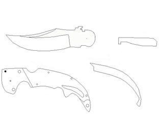 Folding Knife Falchion Knife From Cs Go Instructables,Small Space Small Townhouse Interior Design Philippines