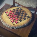 Chess/Checkers Board from tree stump