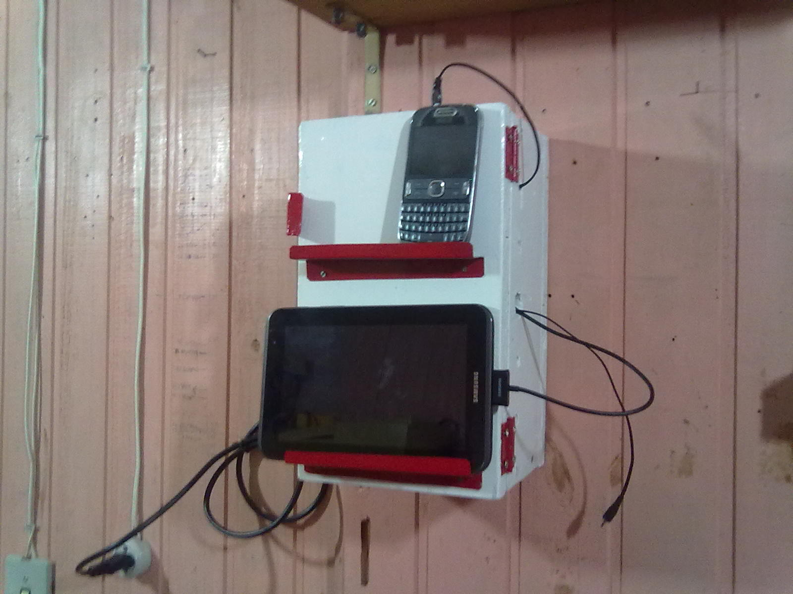 Picture of Cell Phone Dock Charging Station From Scrap Materials