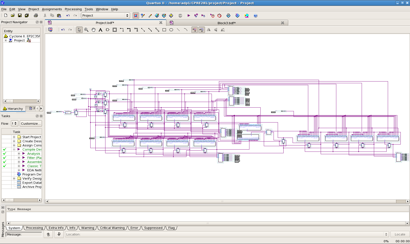 Designing A 4 Bit Adder In Quartus Ii 7 Steps Systems Simulation Of 4bit Full Circuit Verilog Hdl