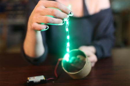 Secure Your LED Strand Inside the Tube