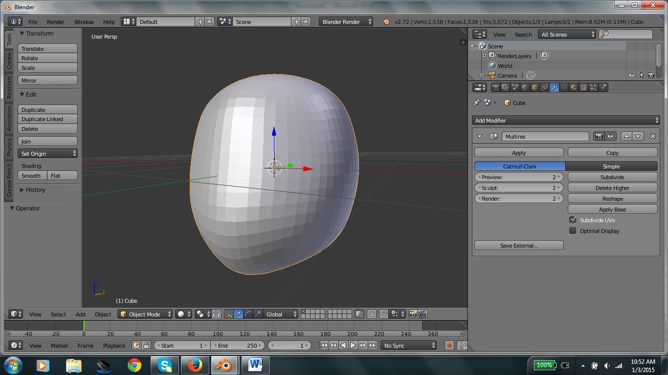 Picture of Shaping the Head Part 2