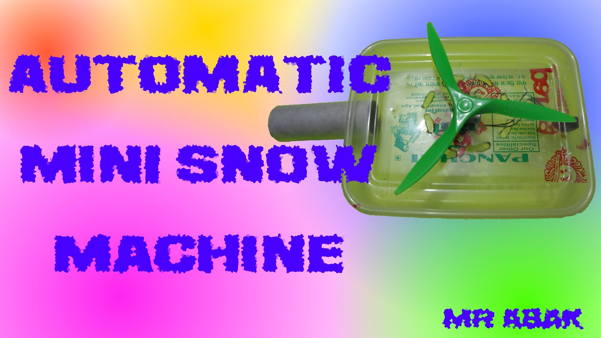 Picture of Automatic Mini Snow Machine for Your Movies