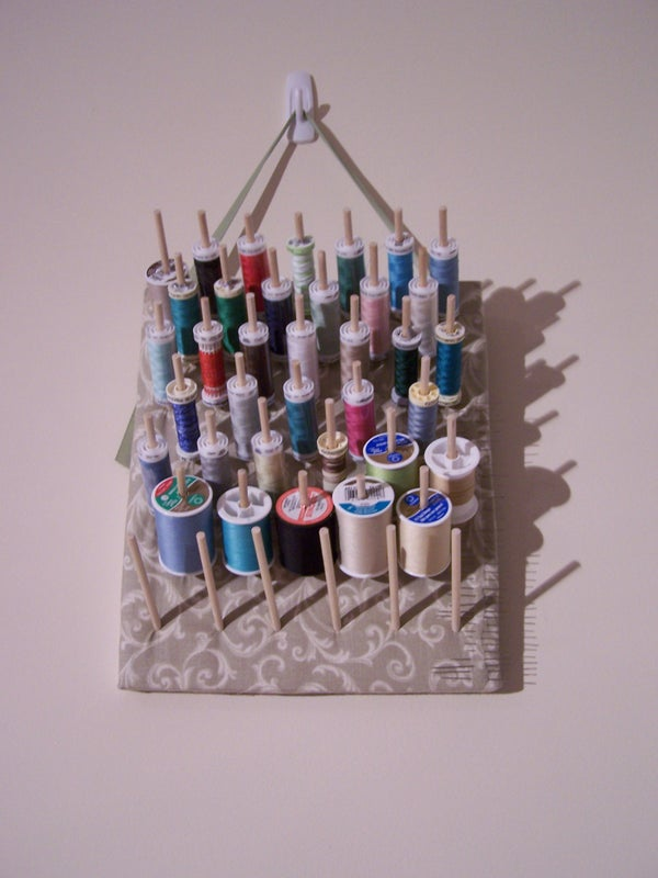 How to Make a Simple and Stylish Thread Rack