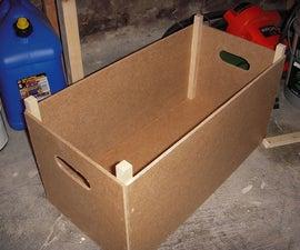 Hardboard tool crate