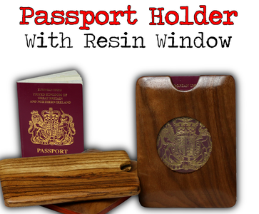 Wooden Passport Holder With Resin Window