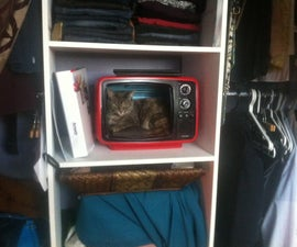 Retro TV Cat Bed