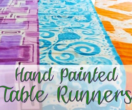 Hand Painted Table Runners