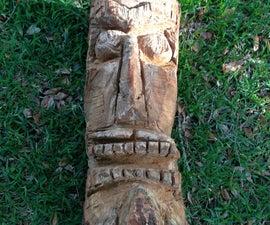 Chainsaw Carved tiki Heads