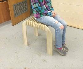 Take apart wooden stool!