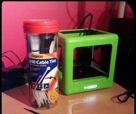 Manage 3D Printer Filament Spools with Zip Ties