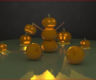 Insane 3D Jack O' Lantern Scene