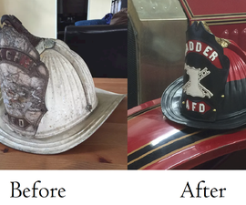 Antique Fire Helmet Restoration