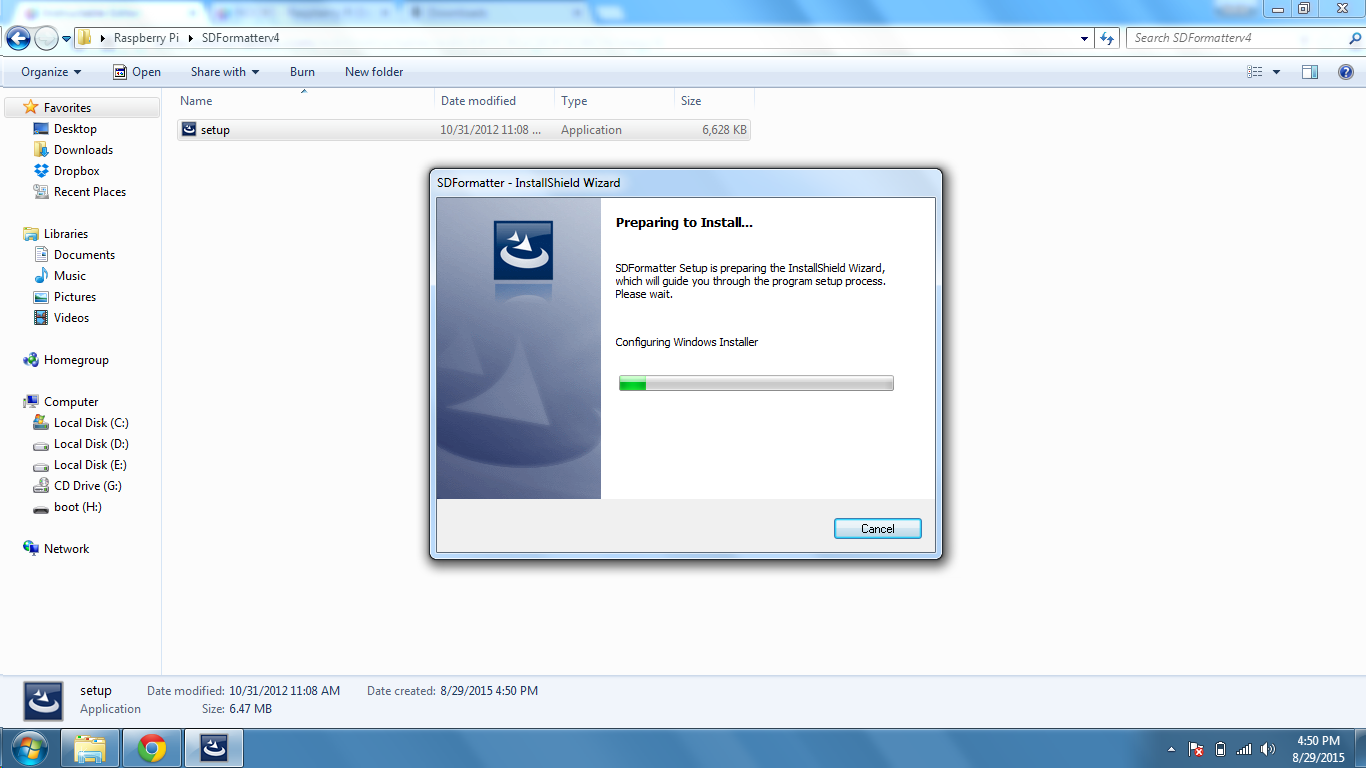 Picture of Installing the NOOBS on SD Card