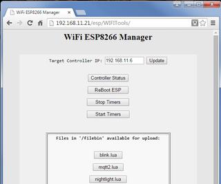 ESP8266 WiFi OTA Remote File Management