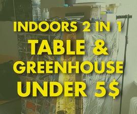 DIY Indoors Greenhouse Under 5$