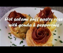 Hot Salami Puff Pastry Roses With Gouda & Pepperonis Recipe