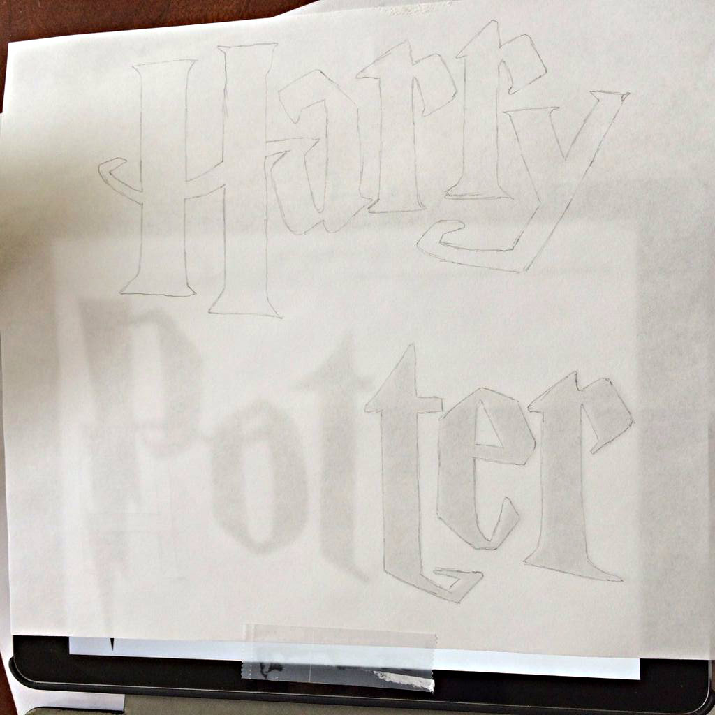 Picture of Trace the Harry Potter Lettering
