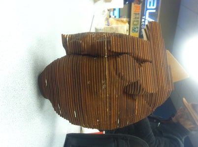 Laser-cut 3D Anatomical Wood Sculpture Using Slicer for Fusion360