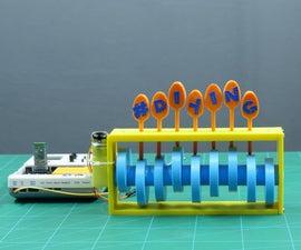 3D Printed Camshaft Text Display Using Evive(Arduino Embedded Platform)