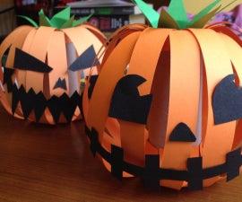 Simple cardboard  pumpkin decoration