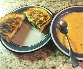 Apple Bacon Grilled Cheese With Creamy Tomato Soup