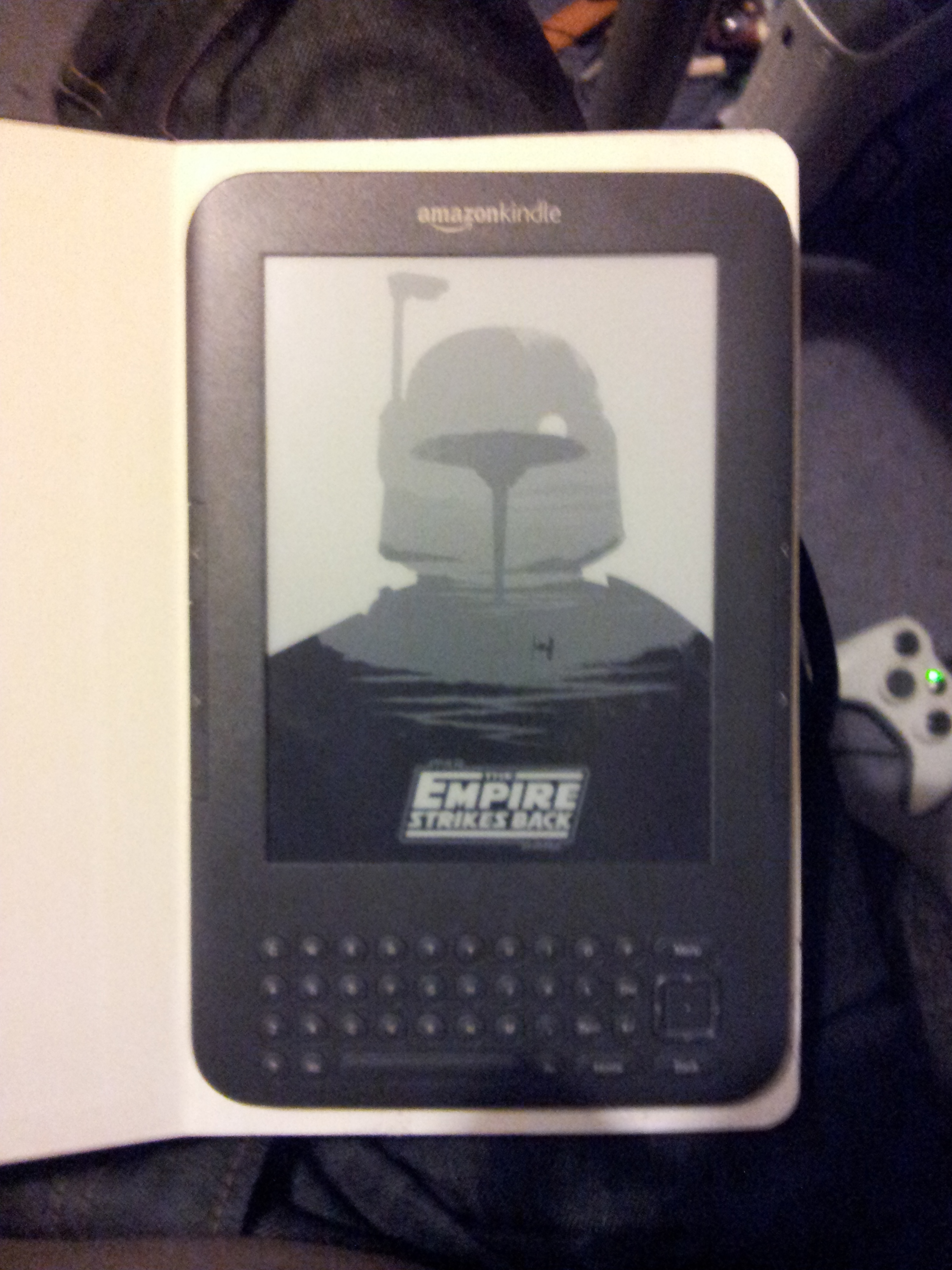 Picture of Mark Out the Outline of Your Kindle on the Top Page.