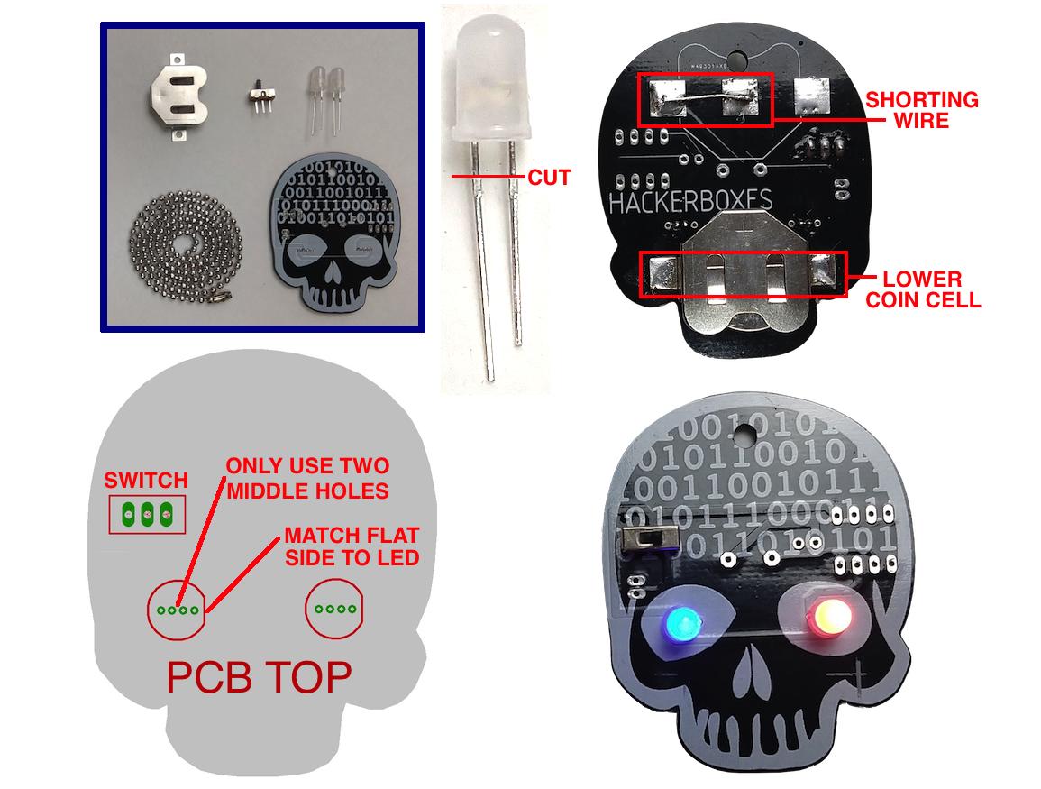 Picture of BitHead PCB Mini-Badge